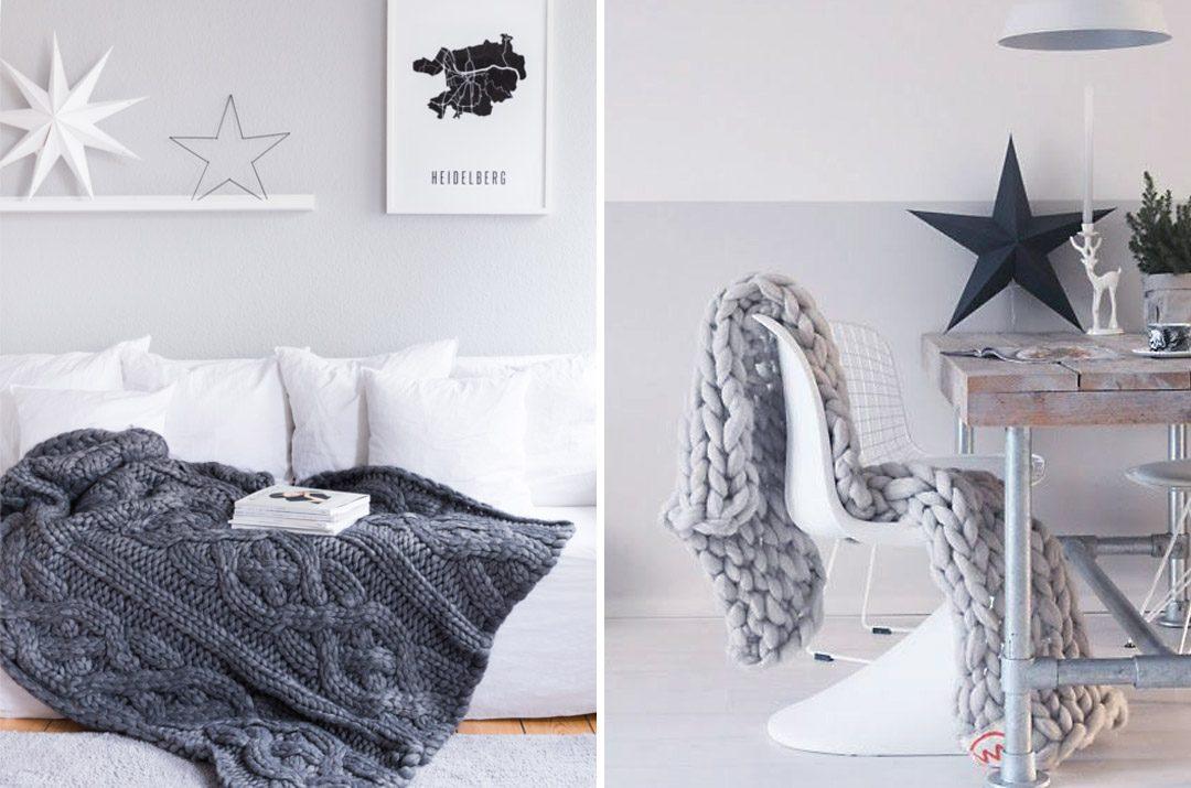Cómo decorar con mantas de punto grueso XXL – Eylinn
